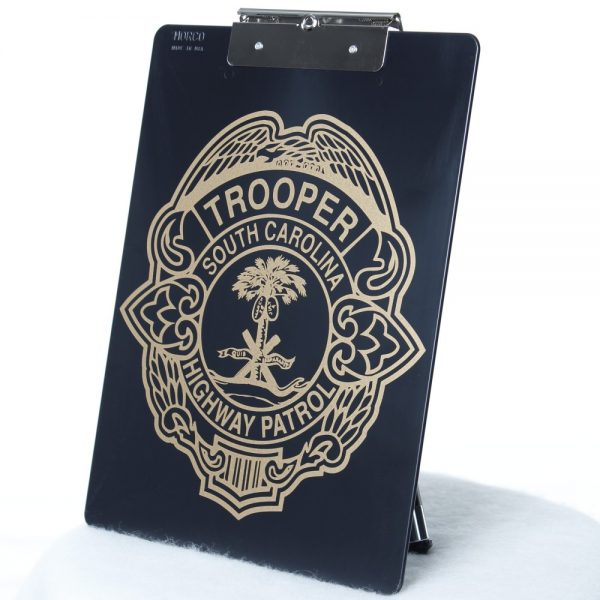 HP badge clipboard back