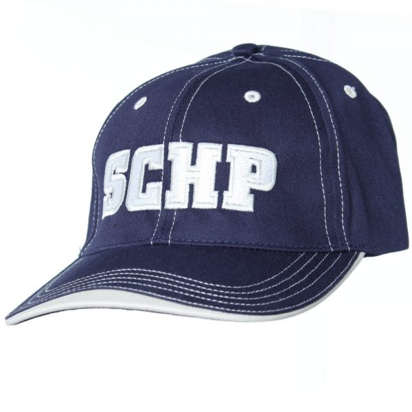 SCHP hat with tan bill front