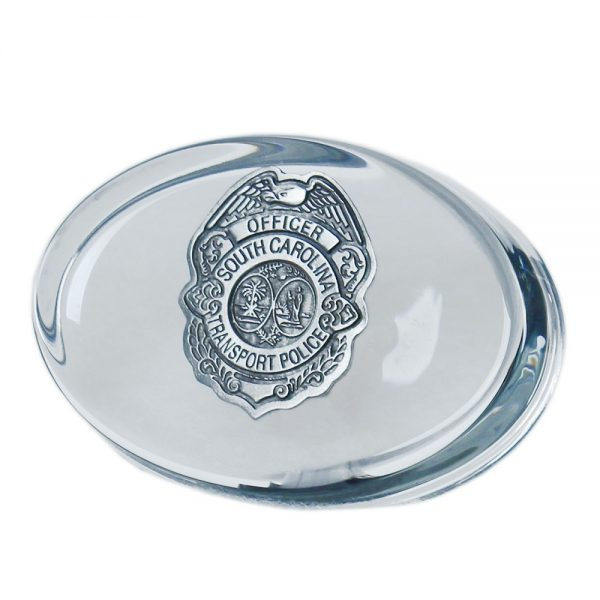 STP Badge Paperweight front