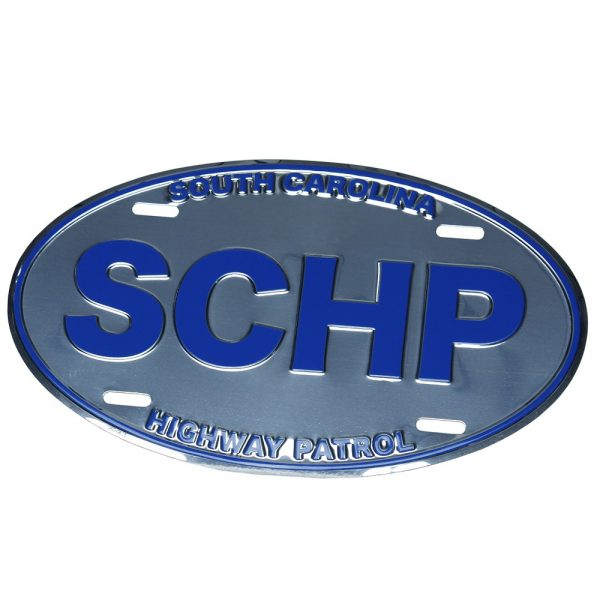 SCHP Oval License Plate
