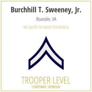 Burchhill T Sweeney, Jr, proudly sponsors the SC Troopers Association