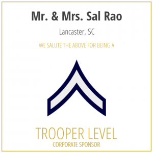 Mr. and Mrs. Sal Rao proudly sponsor the SC Troopers Association