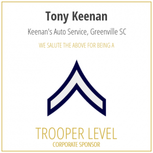 Tony Keenan proudly sponsors the SC Troopers Association