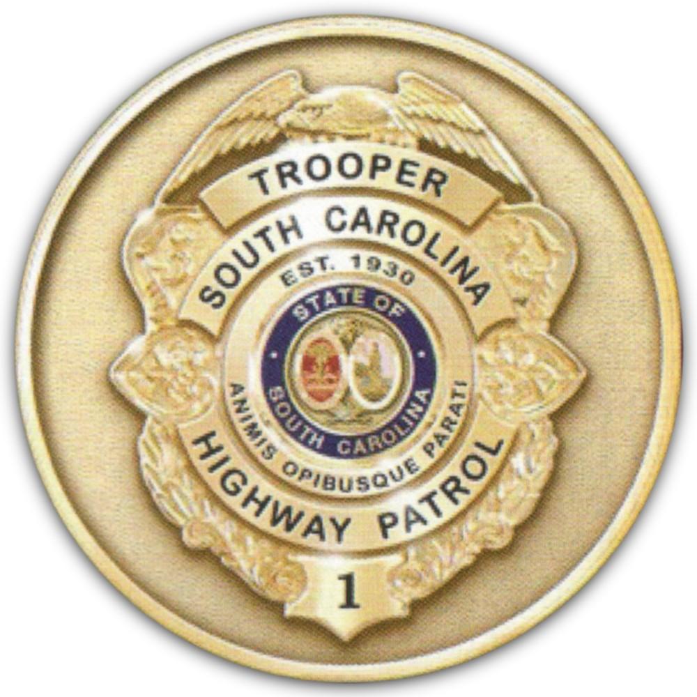 2017 SC Highway Patrol Challenge Coin back